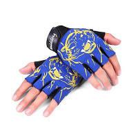 CTSmart 010 пара перчаток с открытыми пальцами унисекс Синий