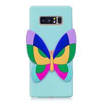 3D-бабочка шаблон телефона защитный чехол для Samsung Galaxy Note 8 Светло-зеленый
