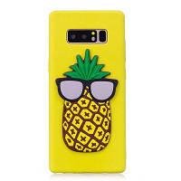 3D Ананас шаблон телефон защиты чехол для Samsung Galaxy Note 8 Жёлтый