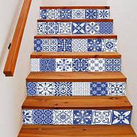 DSU LT030 Классическая декоративная лестница наклейки 6шт. разные цвета