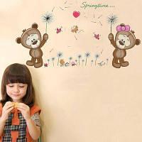 DSU Lovely Cute Bear Wall Наклейка Детская комната Декор Цветной