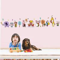 DSU Мультфильм Музыка Примечание Смазливая стикер стены животных для декорации детской комнаты Разноцветный