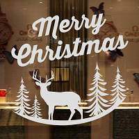 DSU подарок съемный декор 3D с Рождеством виниловые наклейки стены Белый