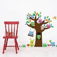 DSU Cute Tree Wall Стикеры для украшения детской комнаты Разноцветный