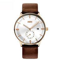 NARY 4736 Gentleman Style Fashion Calendar отображает часы с кварцевым сердечником с коробочками розового золота и белый