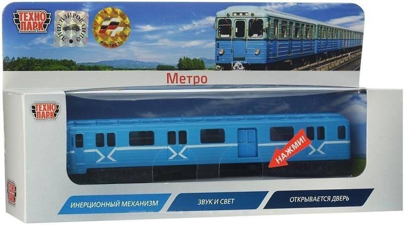 Модель Вагон метро Технопарк SB-14-01 (свет, озвуч рус яз) , фото 1