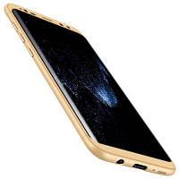 3 в 1 Гибридный жесткий пластик Ультра тонкий и тонкий противоскользящий матовый корпус для Samsung Galaxy S8 Plus Золотой