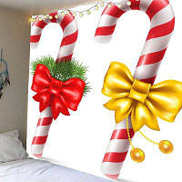 Рождественские Конфеты Тростника Картина Стены Искусства Гобелены ширина59дюймов*длина51дюйм