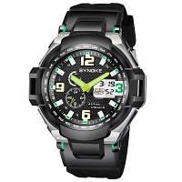 SYNOKE 4733 Досуг Спорта на открытом воздухе Универсальные водонепроницаемые Мужские электронные часы с коробкой Зелёный
