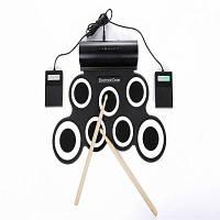 IWord Portable Hand Roll Up Силиконовый электронный барабан Встроенная поддержка динамиков DTX Game 44X28X6 см