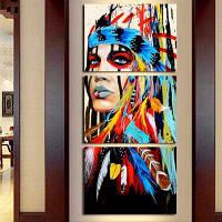 Современные индийские модульные картины на холсте 3шт 30 x 45cм x 3