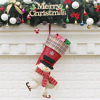 WS0087 Рождественский чулок рождественская подарочная сумка для украшения места у кровати и дерева большая подвеска