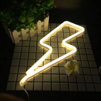 Neon Night Light Light Shaped LED Lamp для украшения спальни для детей Тёпло-белый