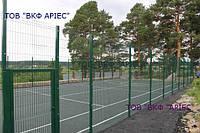 Ограждение спортивных площадок, ограждение с полимерным покрытием