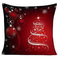 Рождественские висячие шары Снежинка Печать Декоративная наволочка W18 дюймов * L18 дюймов