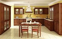 Кухонная мебель, кухня с деревянными фасадами Киев, фото 1