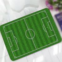 Творческий шаблон футбольного поля Antiskid Floor Mat Зелёный