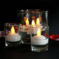 Плавающая светодиодная Электронная свеча с головы пламенем 12шт Белый