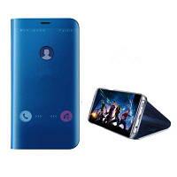 Роскошный прозрачный флип-кожаный чехол для телефона с зеркальным покрытием Huawei Mate 10 Pro Синий