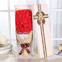 Подарочная коробка мыло в и виде цветов 33шт Красный