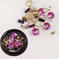 1 коробка декоративные большие ювелирные изделия металла жемчужина смешанного стиля украшения для ногтей 80PCS Цветной