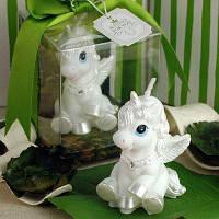 Творческий Стиль лошадь Бездымного свечи торт Топпер 1 шт. Белый
