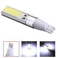 2шт Автомобильная фара T10 COB 10Вт многоцелевые светодиодные лампы габаритный фонарь Белый