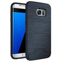 Тонкий двухслойный слот для карт памяти для игровых приставок для Samsung Galaxy S7 Edge Тёмно-синий
