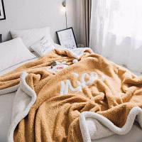 Горчичная желтая ткань Вышитые кашемировые повседневные одеяла Бледно-жёлтый цвет
