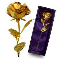 Annaversary Подарки для своей жены подруга Персонализированные уникальный искусственный навсегда любовь Роза Золотой