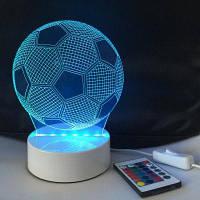 DSU 3D Визуальный светодиодный ночник с изменением цвета и ABS-пьедесталом в форме футбола 20 x 15 x 9cм