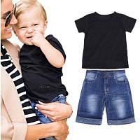 2шт Малыш Детская футболка для мальчиков Топы Брюки Брюки Брюки