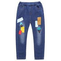 Брюки Брюки Джинсы Детские джинсовые брюки Детские темно-синие брюки 110