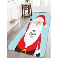 Счастливый Санта-Клаус Шаблон Уголок Противоскользящий Коврик W24дюйм*L71дюйм