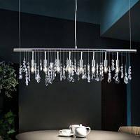 LAZADA модный подвесной светильник хрустальная хромированная лампа для столовой и гостиной 100-120В