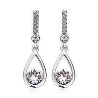 Форма слезки Swarovski Crystal & Австрия Бриллиантовое золото белого золота Платина