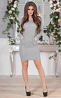 Платье из фактурного меланжа