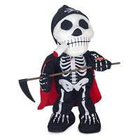 Плюшевая игрушка череп с серпом Цветной
