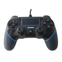 Проводной контроллер для PlayStation 4 Синий и чёрный