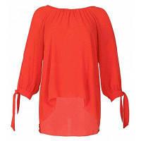Женская футболка с твердым цветом с вырезом из лука плюс шифоновая футболка XL