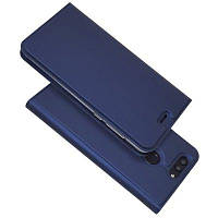Ультра тонкий флип магнитный PU кожаный чехол для телефона Huawei Nova2 Plus Тёмно-синий