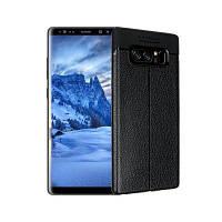 Гладкий Litchi Pattern Кожа PU Мягкий чехол назад для Samsung Galaxy Note 8