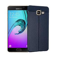 Гладкий Litchi Pattern Кожа PU Мягкий чехол назад для Samsung Galaxy A3 2016