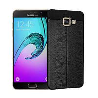 Гладкий Litchi Pattern Кожа PU Мягкий чехол назад для Samsung Galaxy A5 2016