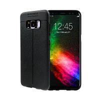 Гладкий Litchi Pattern Кожа PU Мягкий чехол назад для Samsung Galaxy S8