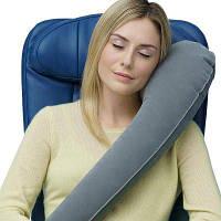 Портативная подушка с аэрацией позвоночника для путешествий Серый