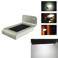 3 в 1 Светодиодный солнечный светильник с датчиком движения звука света для крыльца серебристый и черный