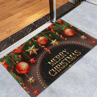 Рождественские Украшения Печать Противоскользящие Ванны Ватки Коралла Коврик W16дюйм*L24дюйм