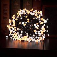 JUEJA 3 метров 400 ламп LED двойной Цвет Рождественский фестиваль лампы штепсель строки ЕС 220-240V