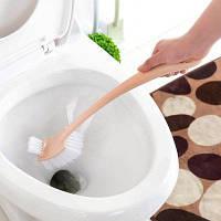 Полезный инструмент для туалетной бумаги с длинной ручкой PP Double Exposed Розовый